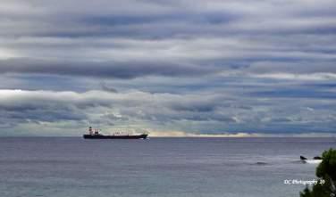 Departing Port Phillip Bay